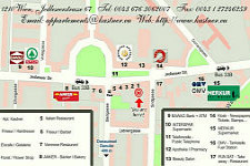 Apartments Kastner Wien - Serviced Apartments Vienna - surroundings map